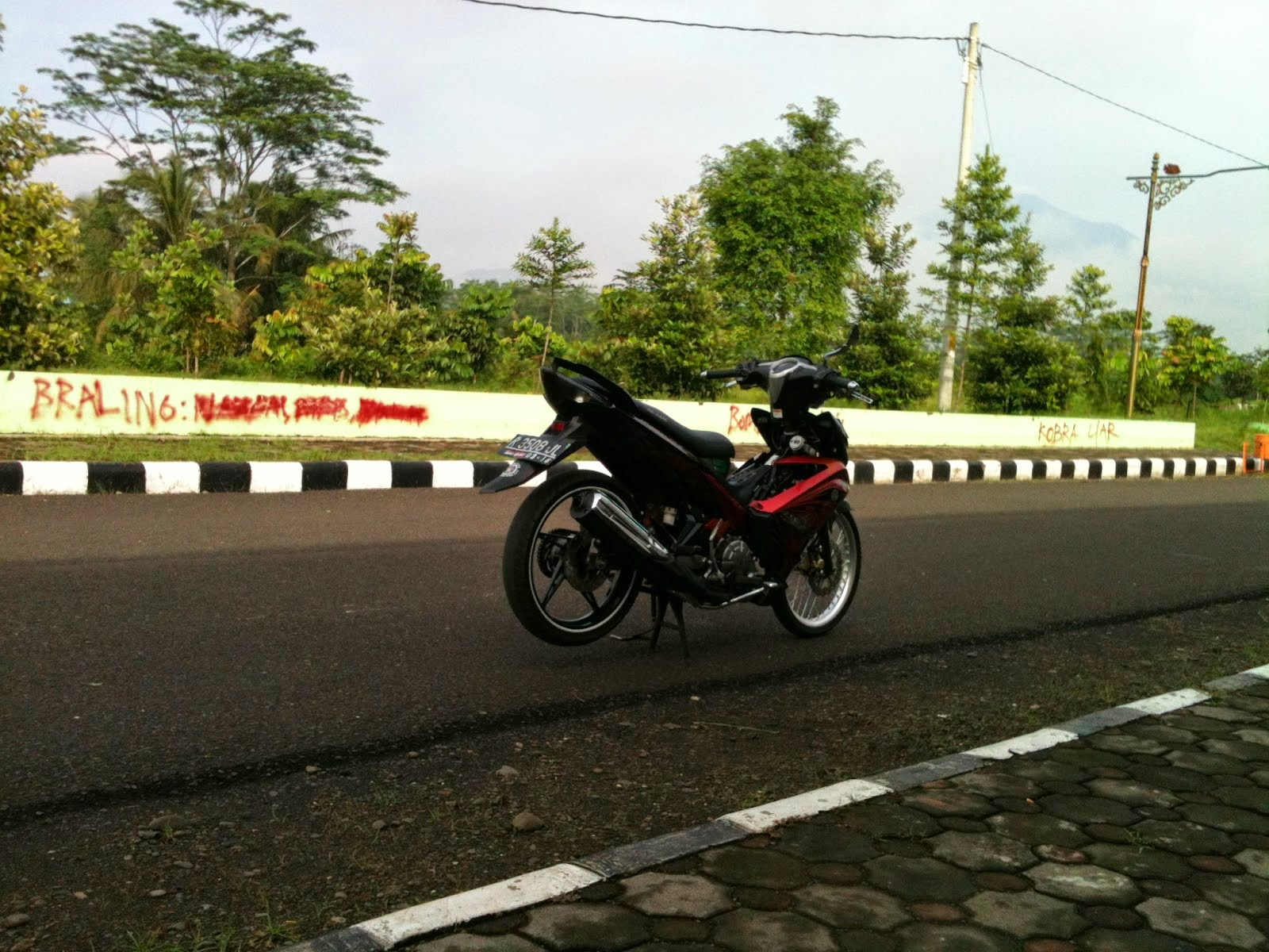 Modifikasi Jupiter Mx New Ungu