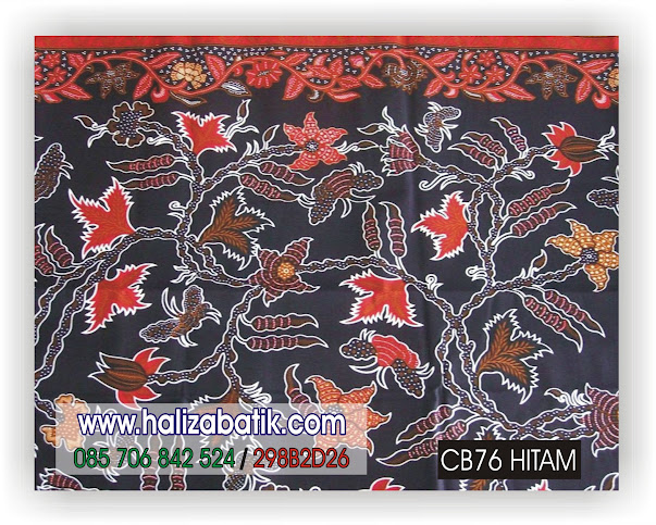 Model Kain Batik, Motif Batik, Gambar Kain Batik, CB76 HITAM