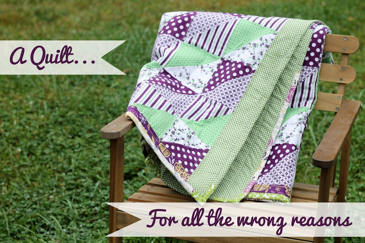 A quilt for all the wrong reasons. Another Fuck you, Cancer quilt.