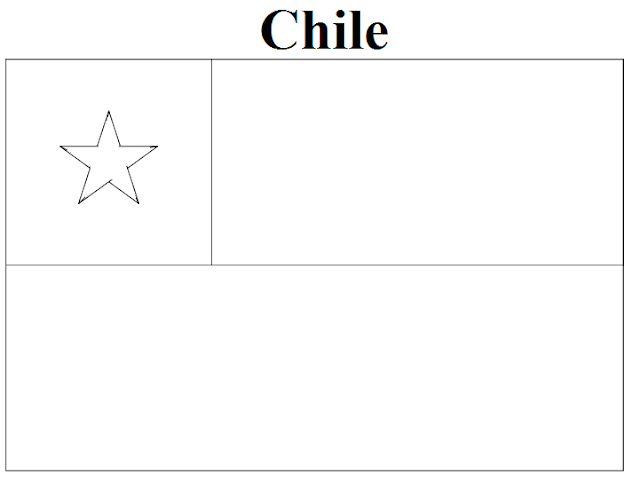 Geography Blog Chile Flag Coloring Page