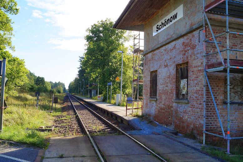 Bahnhof Schönow am 13.08.2014 - zum Öffnen der Bildergalerie auf das Bild klicken - alle Bilder © A.M. für © gemeinde-tantow.de