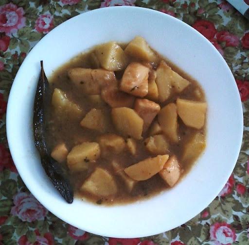 Patatas con choco en Choco a la riojana