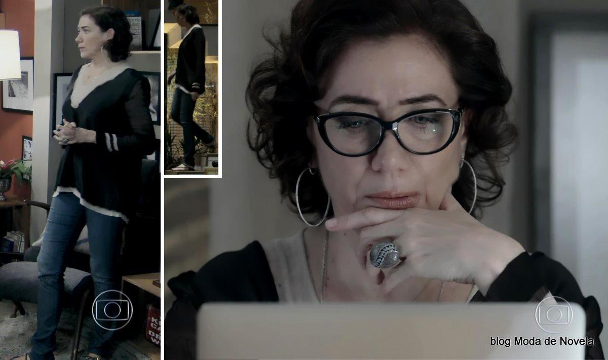 moda da novela Império, look da Maria Marta dia 21 de outubro