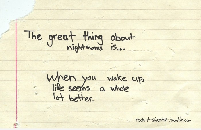The Great Thing About Nightmares