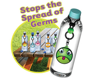 Germs by letting kids know which water bottle is theres