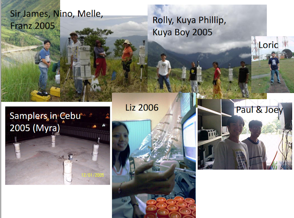 Sir James, Nino, Melle,and Franz (2005); Rolly, Kuya Philip, Kuya Boy (2005); Samplers in Cebu (Myra 2005); Liz 2006; Paul and Joey.
