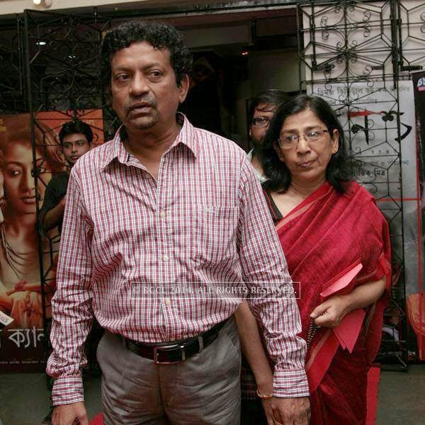 Gautom Ghosh and Nilanjana during the premiere of Ai Raat Tomar Amar, held in Kolkata.