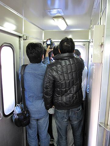 JR寝台特急「富士」「はやぶさ」 客車連結部分 車内