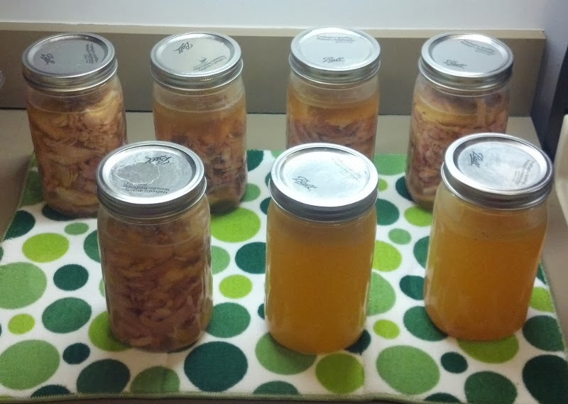 Canned Jars of Turkey and Turkey Stock