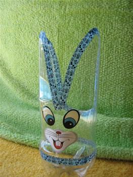 coelhos feitos com garrafas de plástico COELHO+MACHO+1