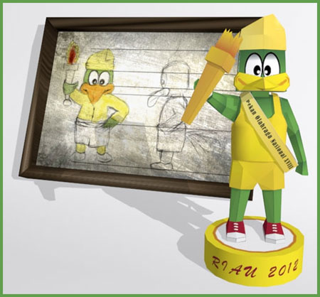 2012 Indonesian National Game Papercraft Mascot