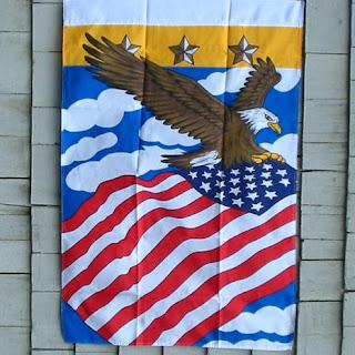 American Eagle Banner Flag