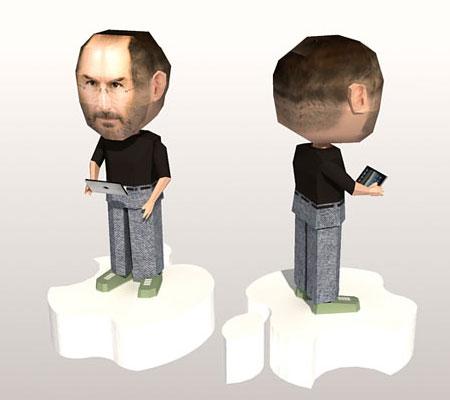Steve Jobs Paper Model