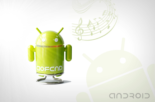Android robot mini speaker