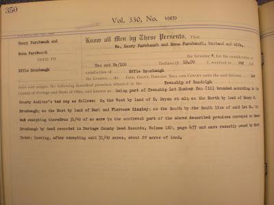 Farnbauch Deed to Effie BrumbaughVol 330 Page 350