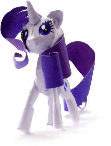 My Little Pony Papercraft Rarity