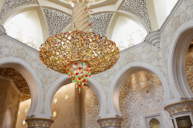 Grand Chandelier inside Sheikh Zayed Grand Modque, Abu Dhabi