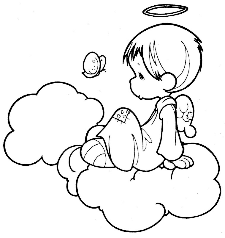 precious moments angel coloring pages angel and a butterfly precious moments coloring pages