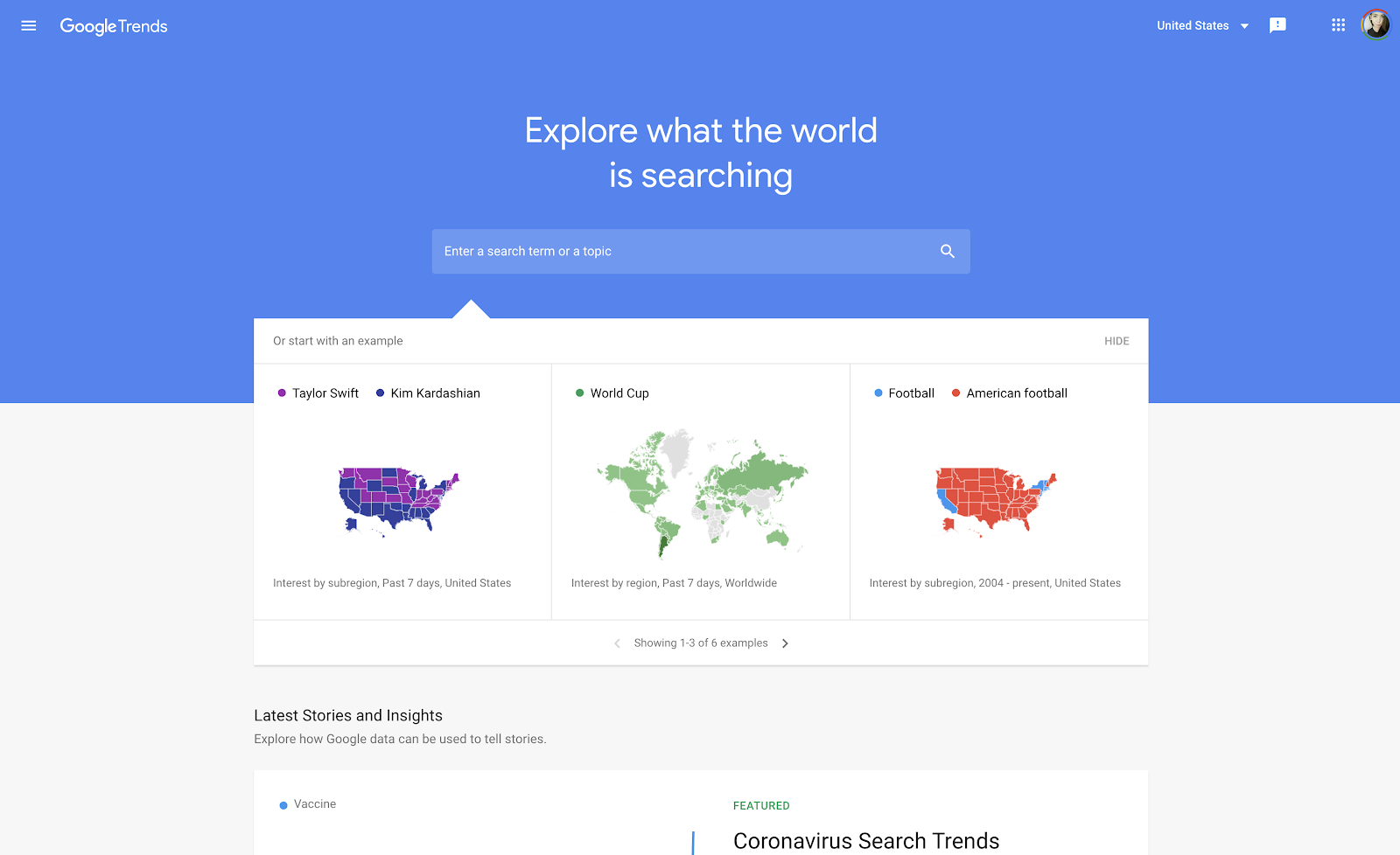 google trends keyword search tool