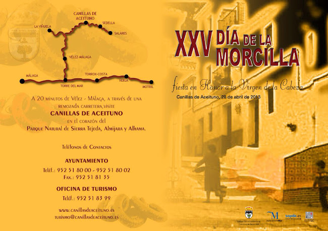 Cartel XXV Fiesta de la Morcilla. Canillas de Aceituno