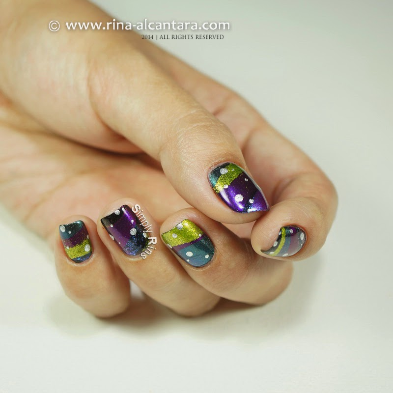 Fantastical New Year 2015 Nail Art