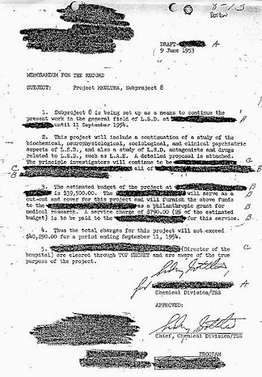 απόρρητο έγγραφο, MK Ultra, LSD, πείραμα, preludiance