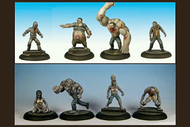 zombies left 4 Dead 1 y 2 de studio miniatures
