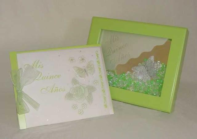 Libro de firmas quinceañera verde