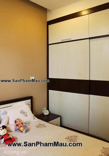 Thiết kế tủ âm tường trong phòng ngủ