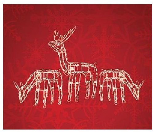 3 PC LIGHTED DEER FAMILY CHRISTMAS YARD DECORATION