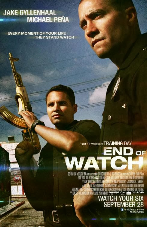 Poster Of End of Watch (2012) Full Movie Hindi Dubbed Free Download Watch Online At Alldownloads4u.Com