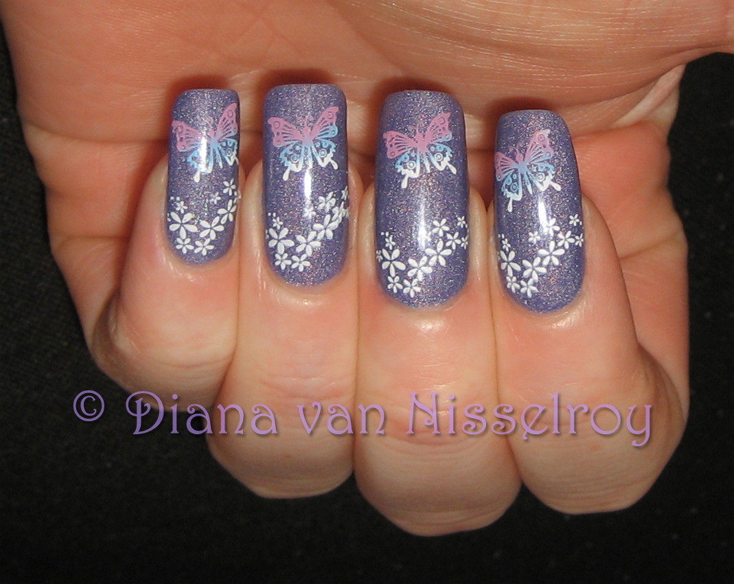 D I A N A Catrice 420 Dirty Berry Swatches Nail Art