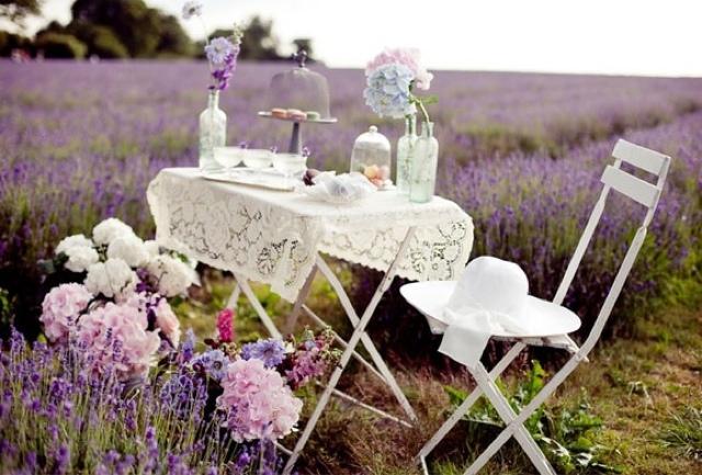 Ambiente romántico lavanda