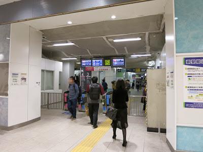 中目黒駅の新しい改札