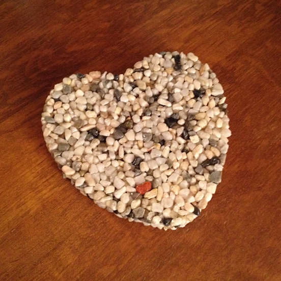 Heart-shaped trivet by 'Rock Stuff' (submitted by Darren L.)