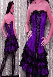 Purple Corset Dress Set