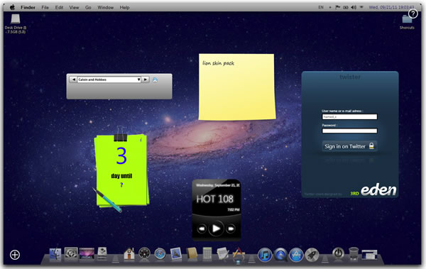 tema mac os xlion para windows 7