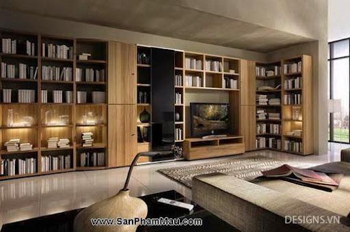 Các mẫu thiết kế nội thất phòng đọc sách P1-17