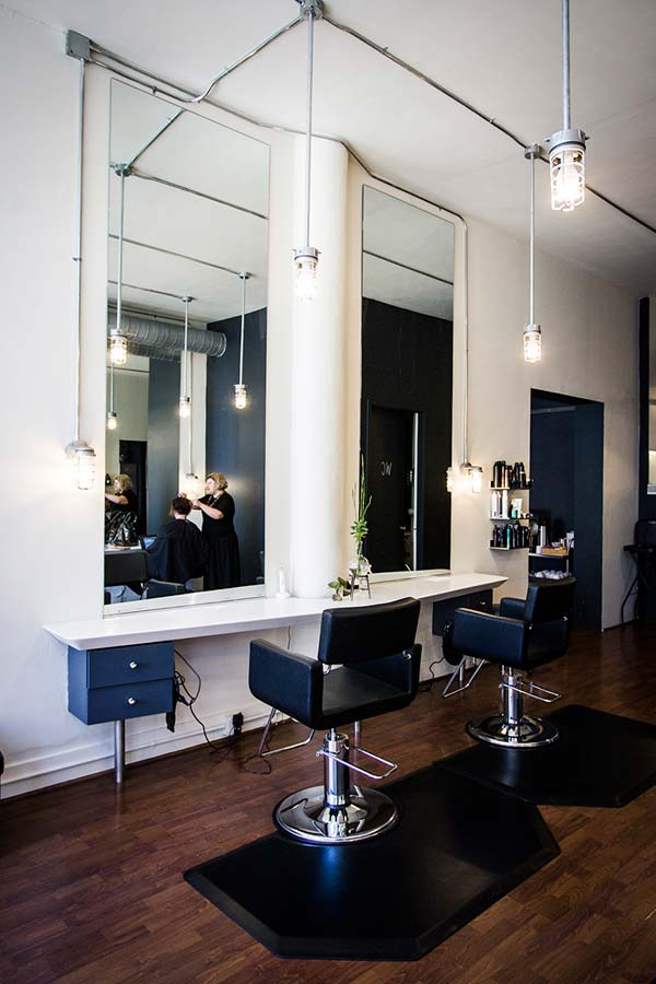 this space also offers plenty of hair salon services with a newly remodeled salon floor and a nearly completed color bar the atmosphere is clean and - Salon Modern Evintage