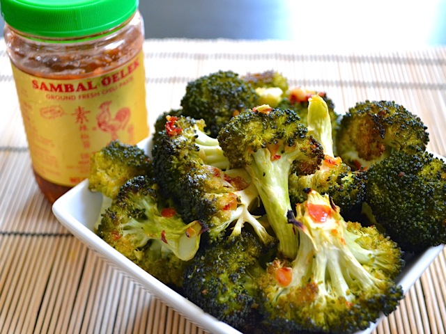 roasted sambal broccoli