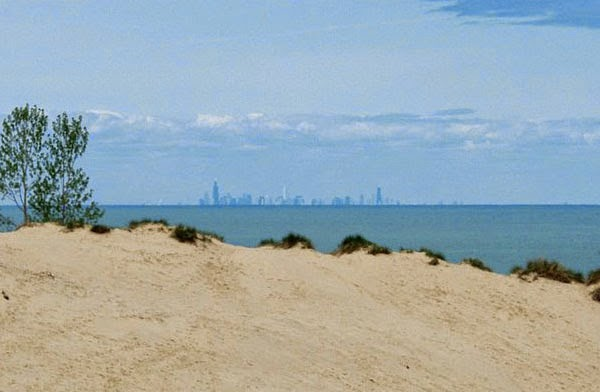 Chicago Skyline seen from Indiana Dunes, IN