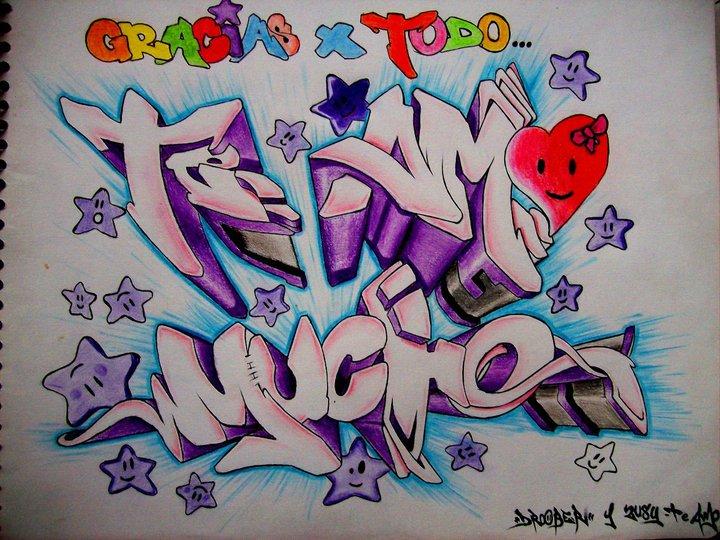 Te amoo grafiti - Imagui