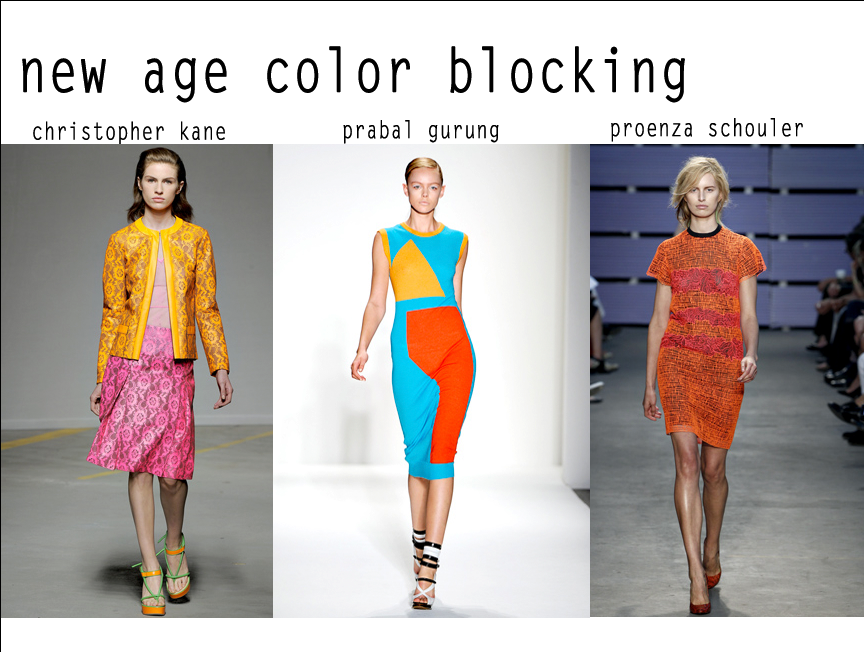 COLOUR BLOCKING - Be prepared to get noticed this summer as bold