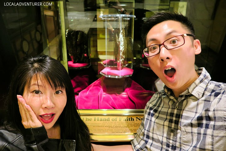 Golden Nugget Hand of Faith (25 Las Vegas Free Things to Do).