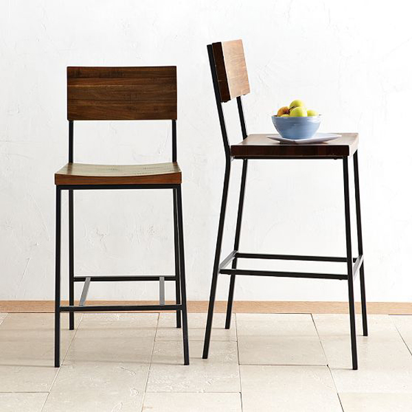 West Elm - Rustic Bar Stool + Counter Stool