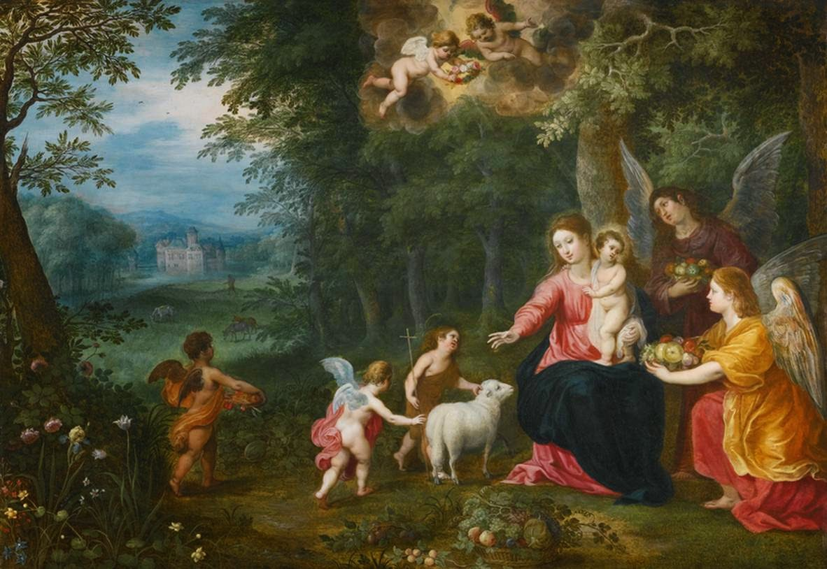 Hendrick van Balen - Virgin and Child with the Infant St John, Surrounded by Animals