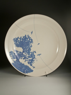 tree decorated plate