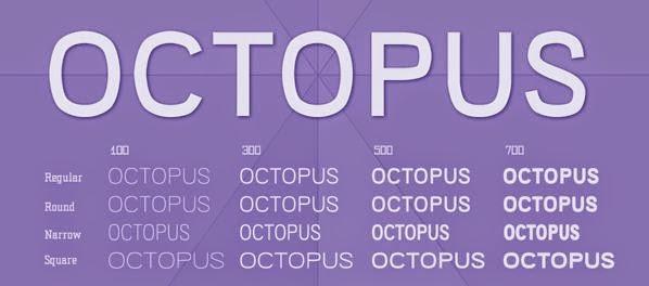 octopus free familiy font