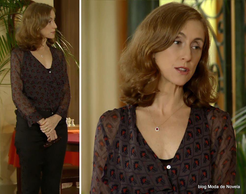 moda da novela Em Família - look da miss Lauren