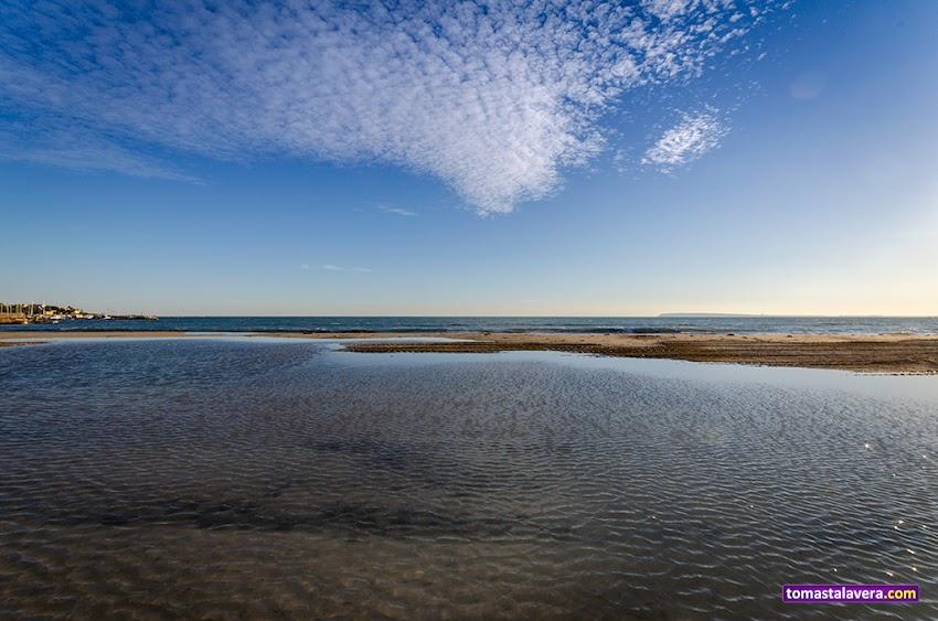 Nikon D5100, 10-20 mm, Paisajes, Playa de la Albufereta, Alicante, Mar, Horizonte, Nubes, Atardecer,